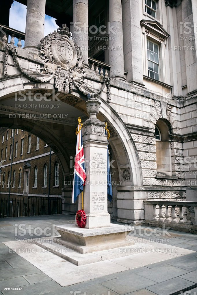 War memorial at Somerset House, London stock photo
