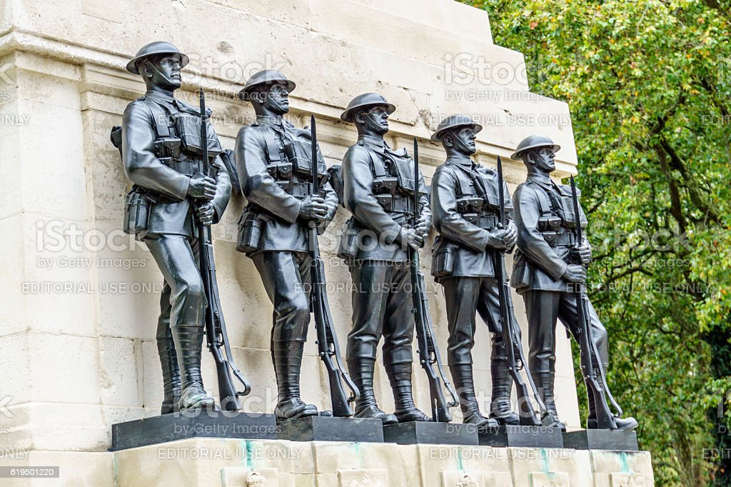 War memorial at the Cenotaph in  London stock photo