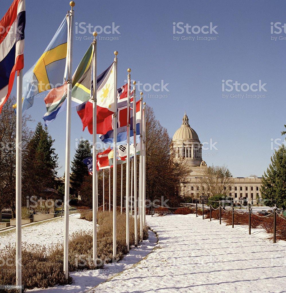 War Memorial at Washington State Capitol royalty-free stock photo