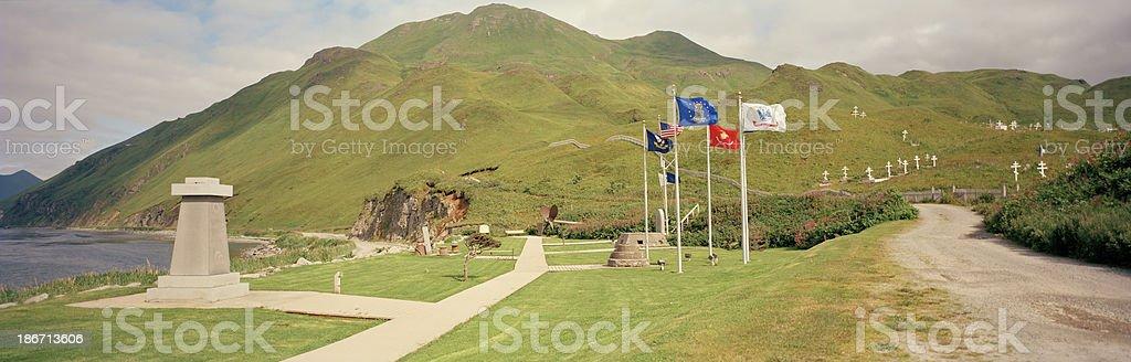 War Memorial, Dutch Harbor, Alaska stock photo