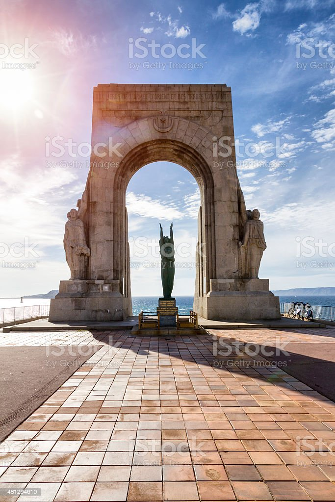 War memorial for the heroes of the oriental countries army stock photo