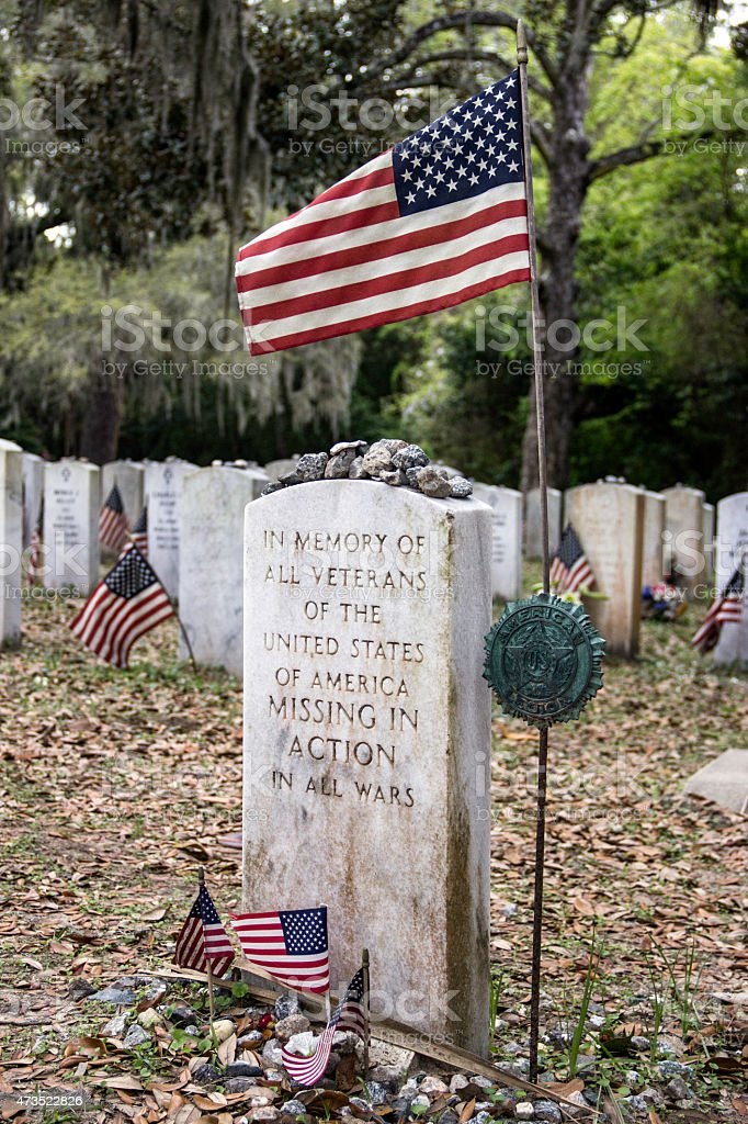 War Memorial for Veterans Missing in Action stock photo