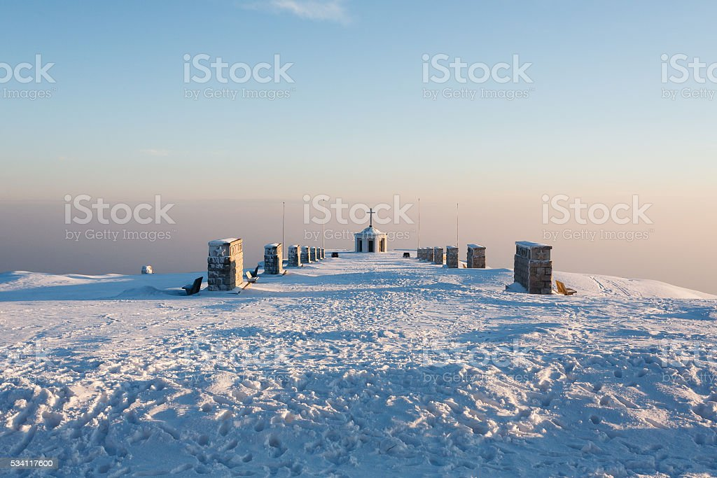 War memorial from Monte Grappa. stock photo