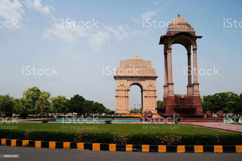 War memorial in a city stock photo