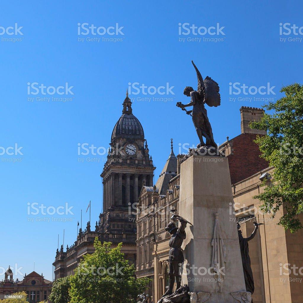 War Memorial in centre of Leeds stock photo