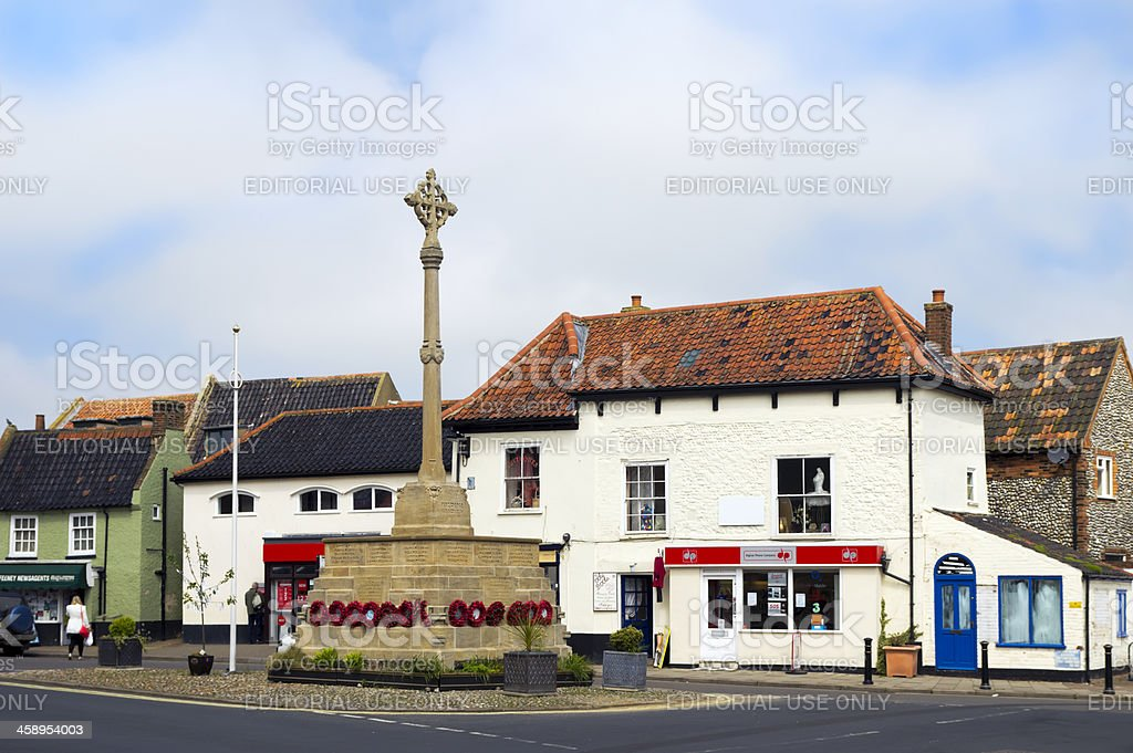 War memorial in Holt, Norfolk stock photo