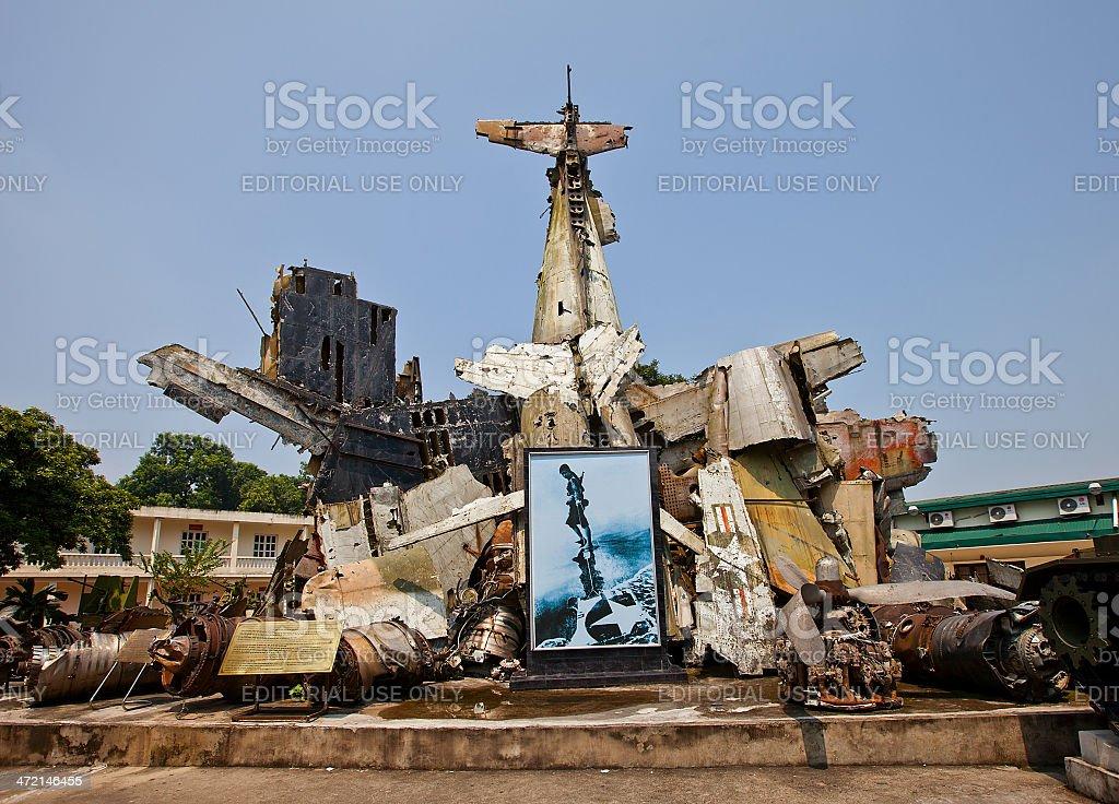 War memorial in Military History Museum, Hanoi, Vietnam stock photo