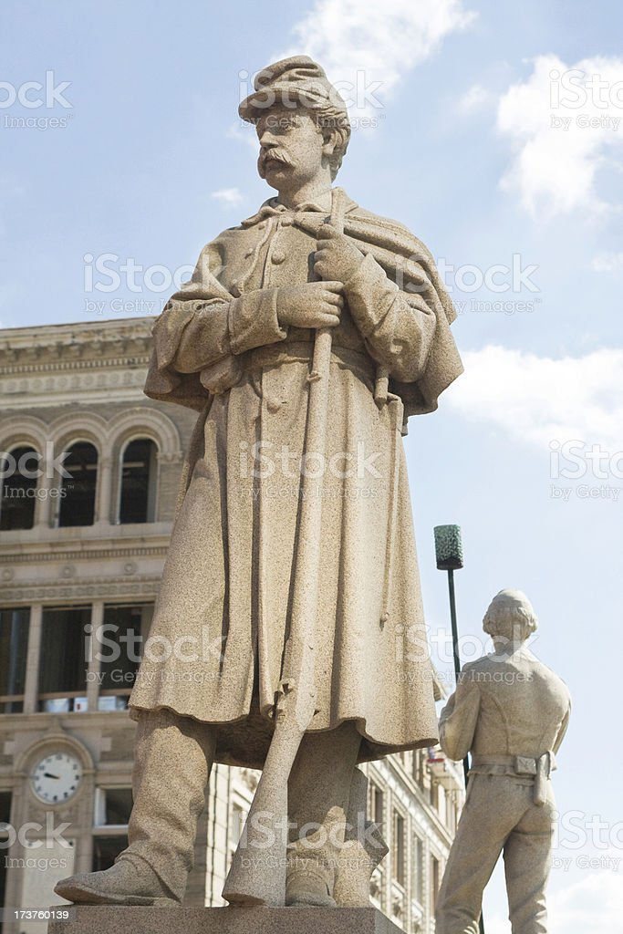 War Memorial in Penn Square stock photo