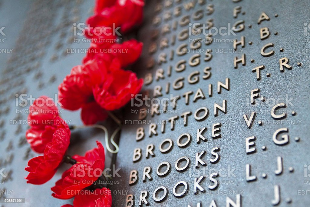 War Memorial stock photo