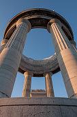 War memorial seen from below, Ancona, Italy