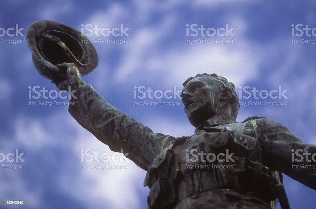 War Memorial, Truro, Cornwall stock photo