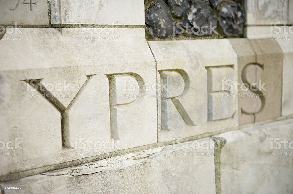 WW1 War Memorial, Tyne Cot Cemetery, Belgium stock photo
