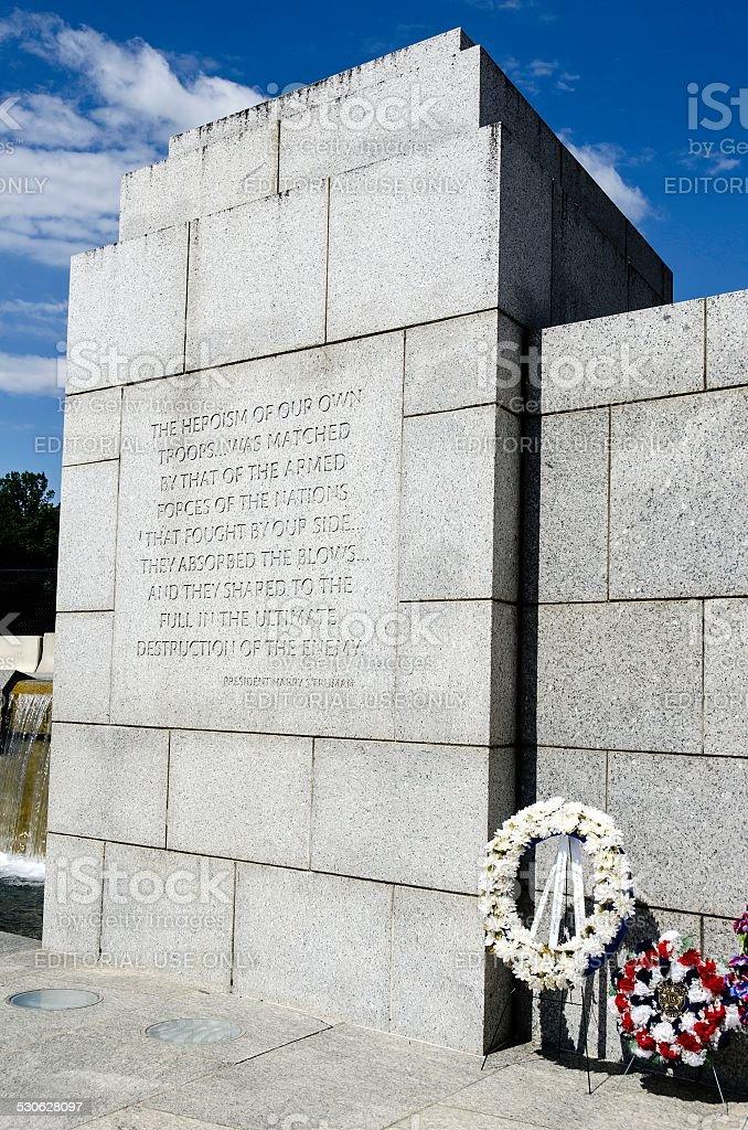 US War Memorial, Washington DC stock photo