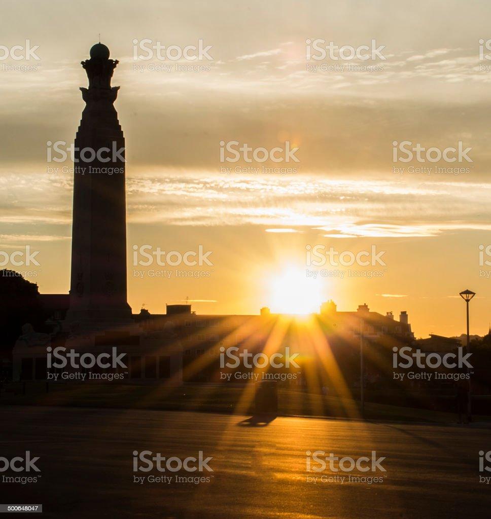War Memorials on Plymouth Hoe stock photo