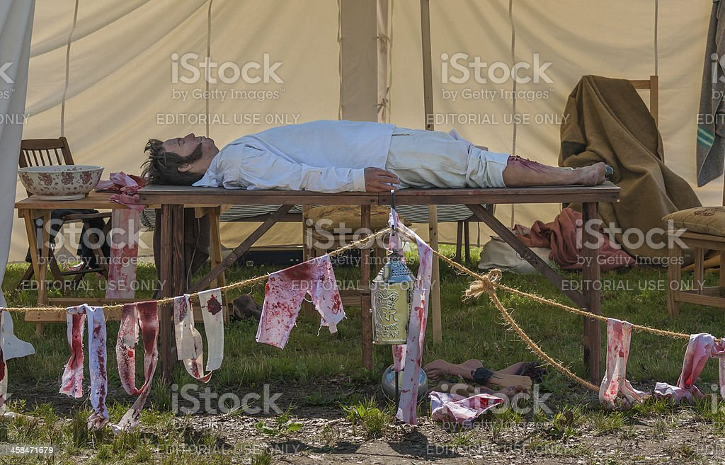 War of 1812 Doctor's Tent stock photo