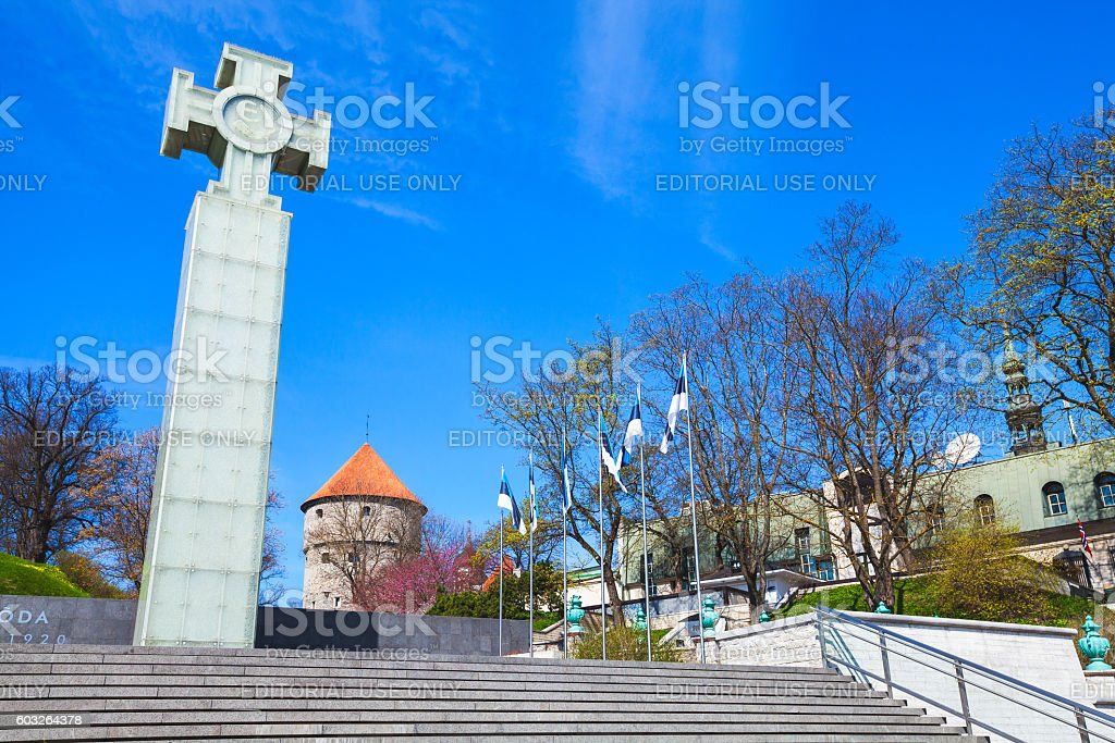 War of Independence Victory Column, Tallinn stock photo