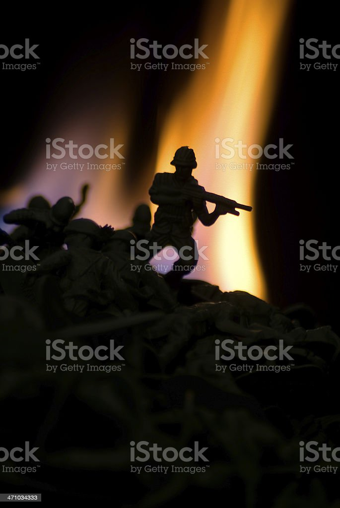 War of the Toy Soldiers stock photo