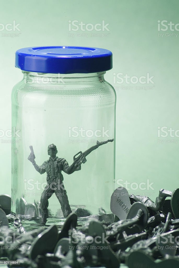 War of the Toy Soldiers royalty-free stock photo
