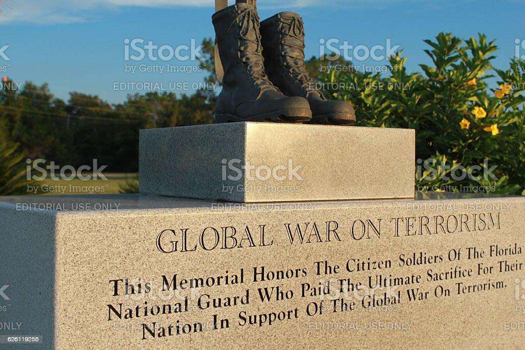 War on Terrorism Memorial Camp Blanding, Florida stock photo