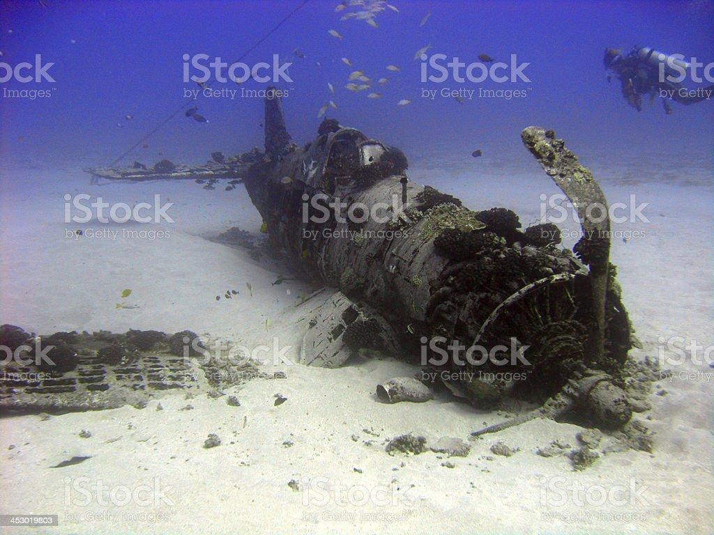 War plane of the Deep stock photo