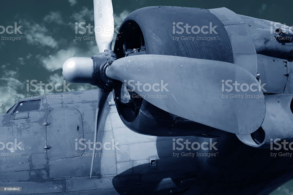 War plane used in II. World War royalty-free stock photo