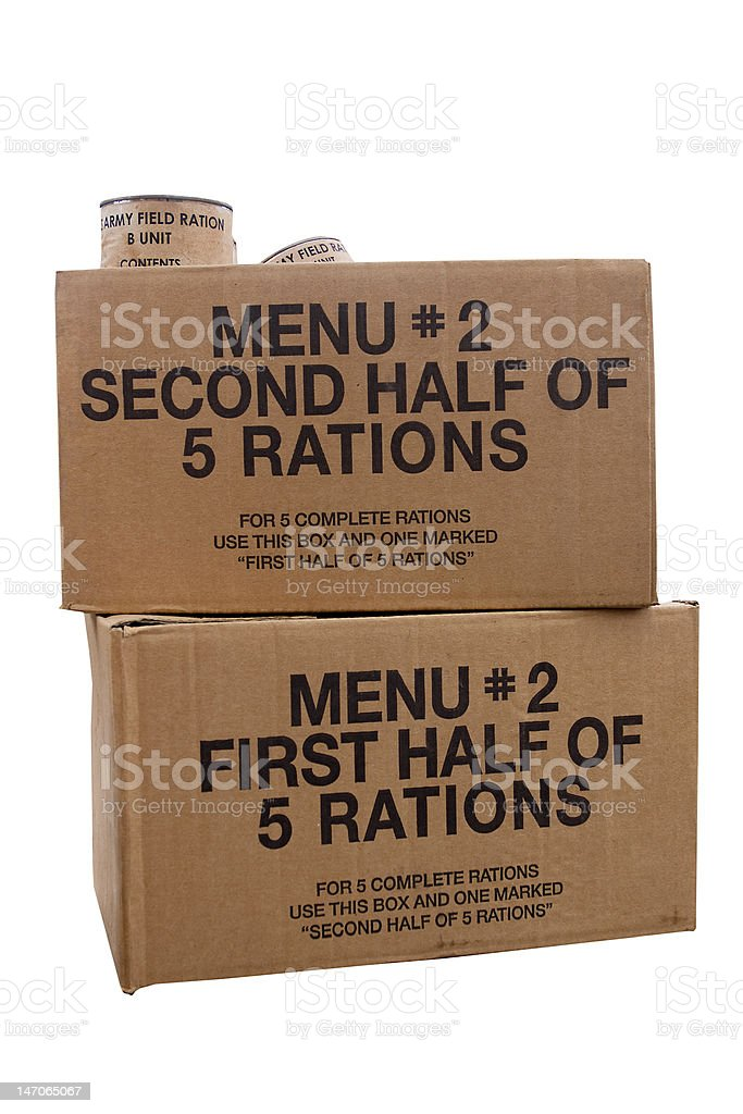War rations stock photo