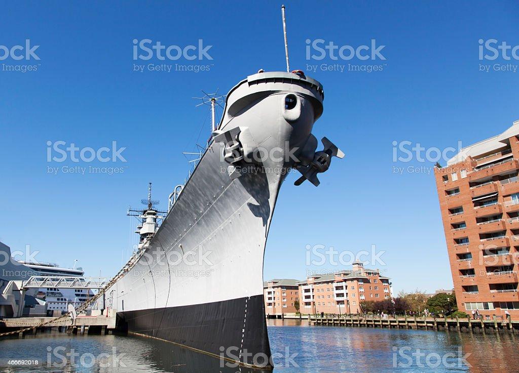 War Ship stock photo