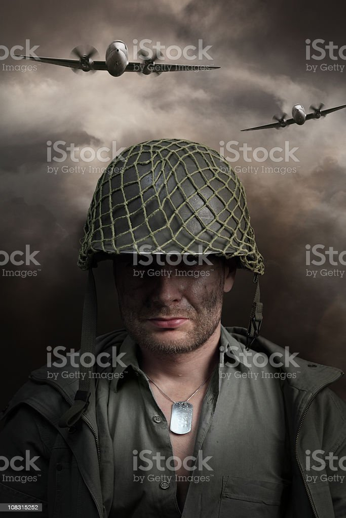 War Soldier Portrait royalty-free stock photo