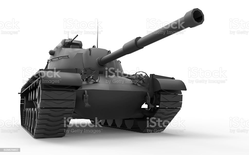 War Soldiers of Leopard Military tank and Army Isolated stock photo