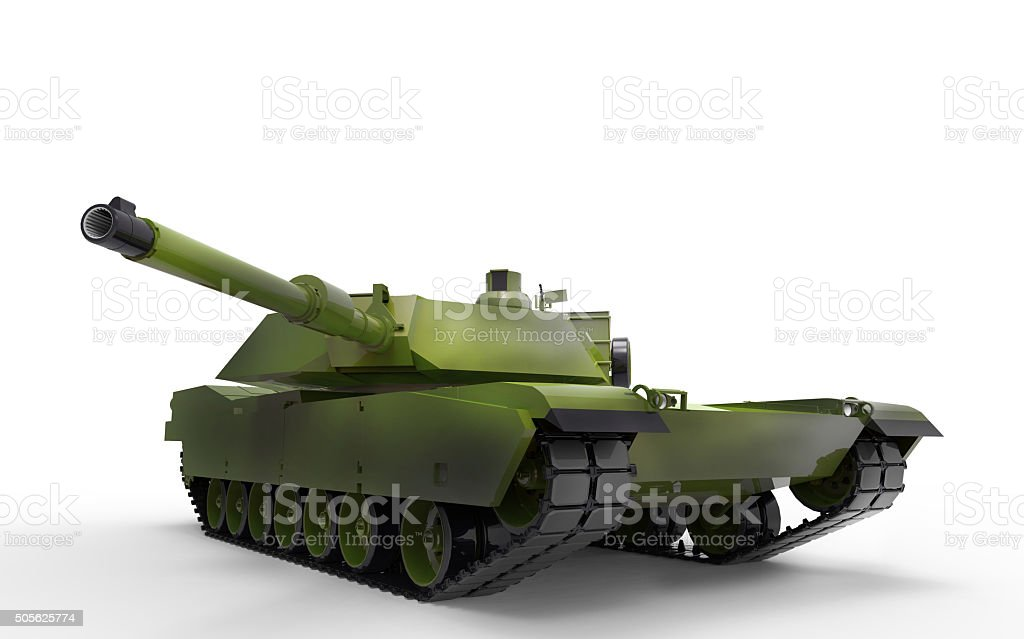 War Soldiers of tank and Army Isolated stock photo