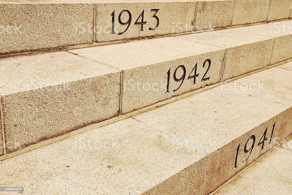 War Steps royalty-free stock photo