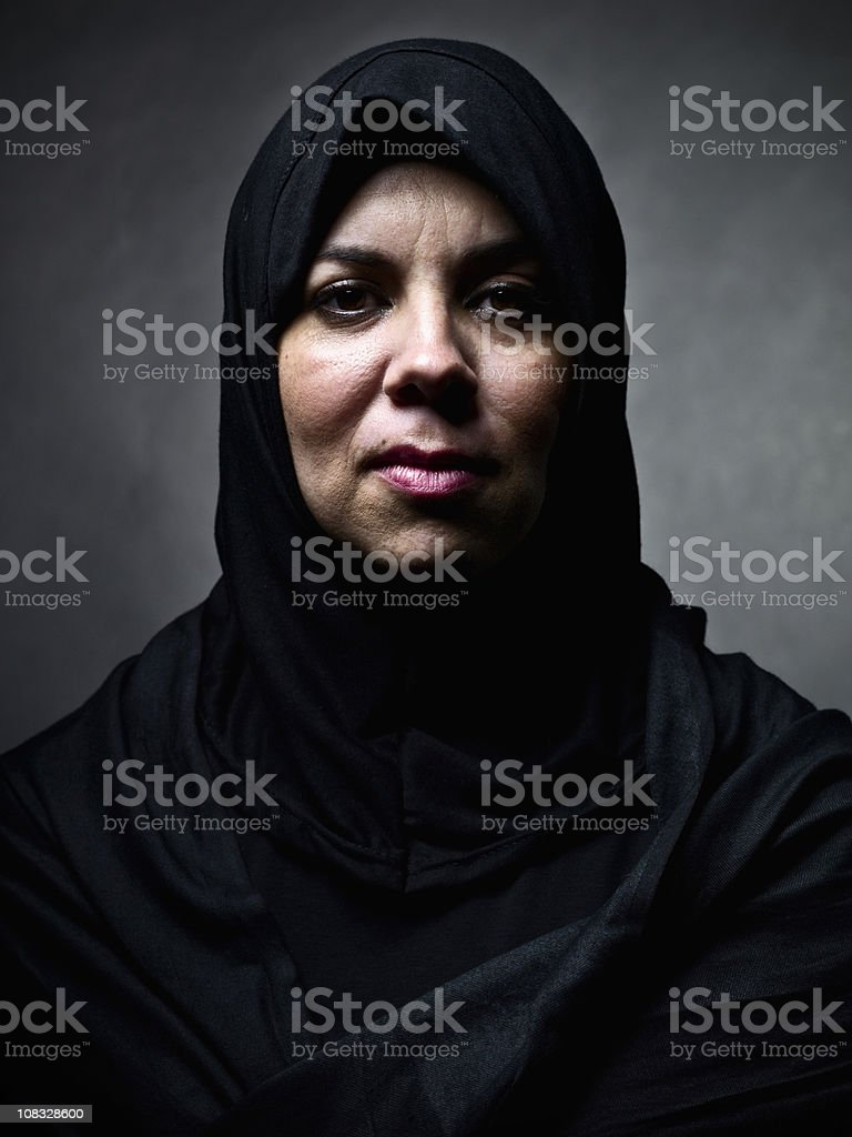 War Widow stock photo