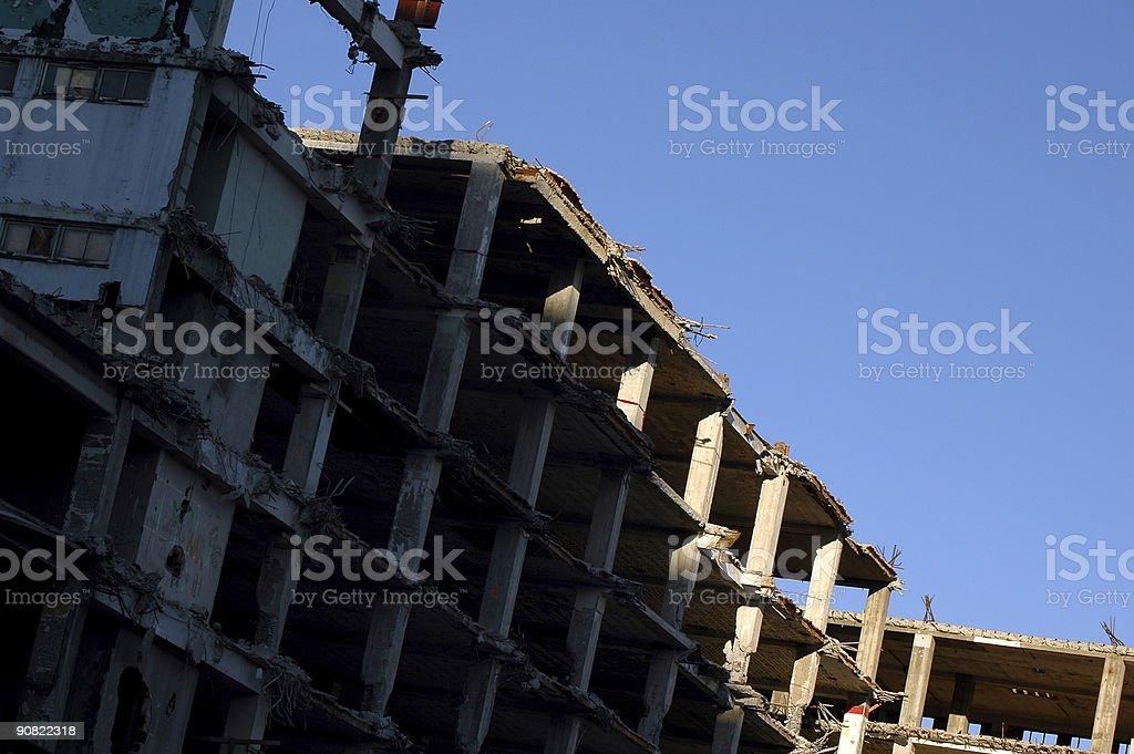 War Zone or Urban Renewal stock photo