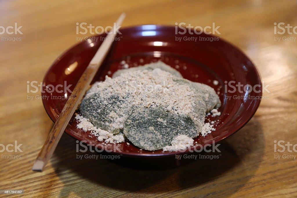 warabi mochi stock photo