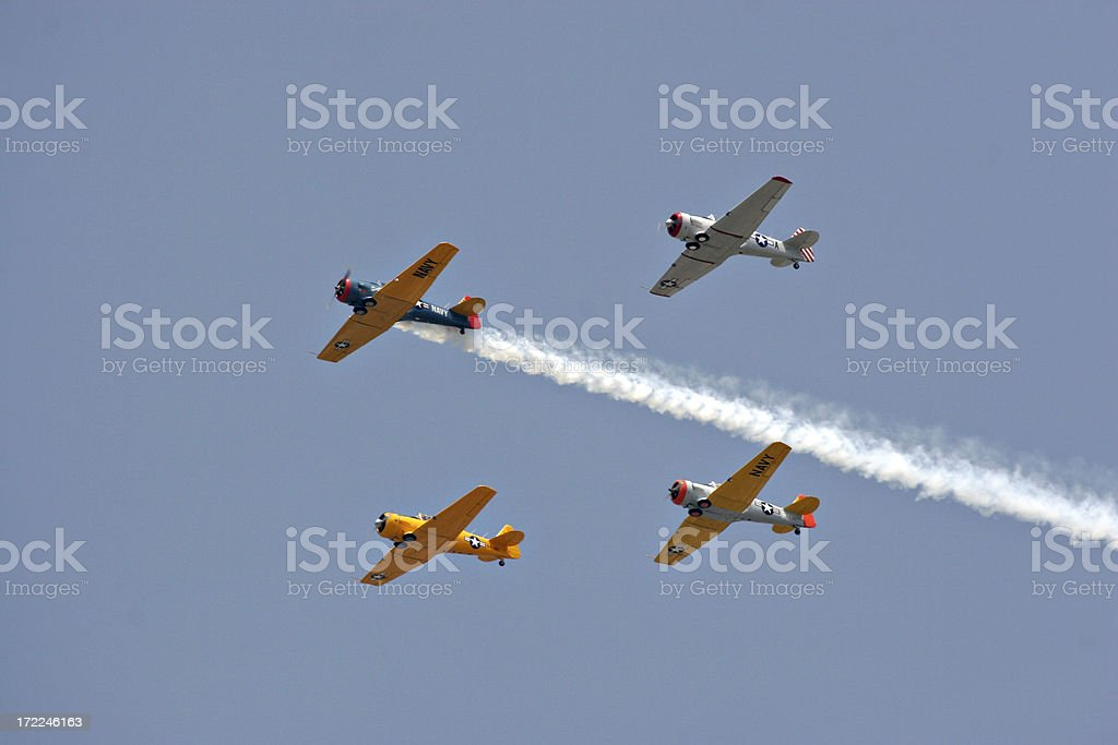Warbird Formation royalty-free stock photo
