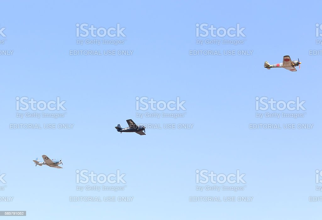 Warbirds stock photo