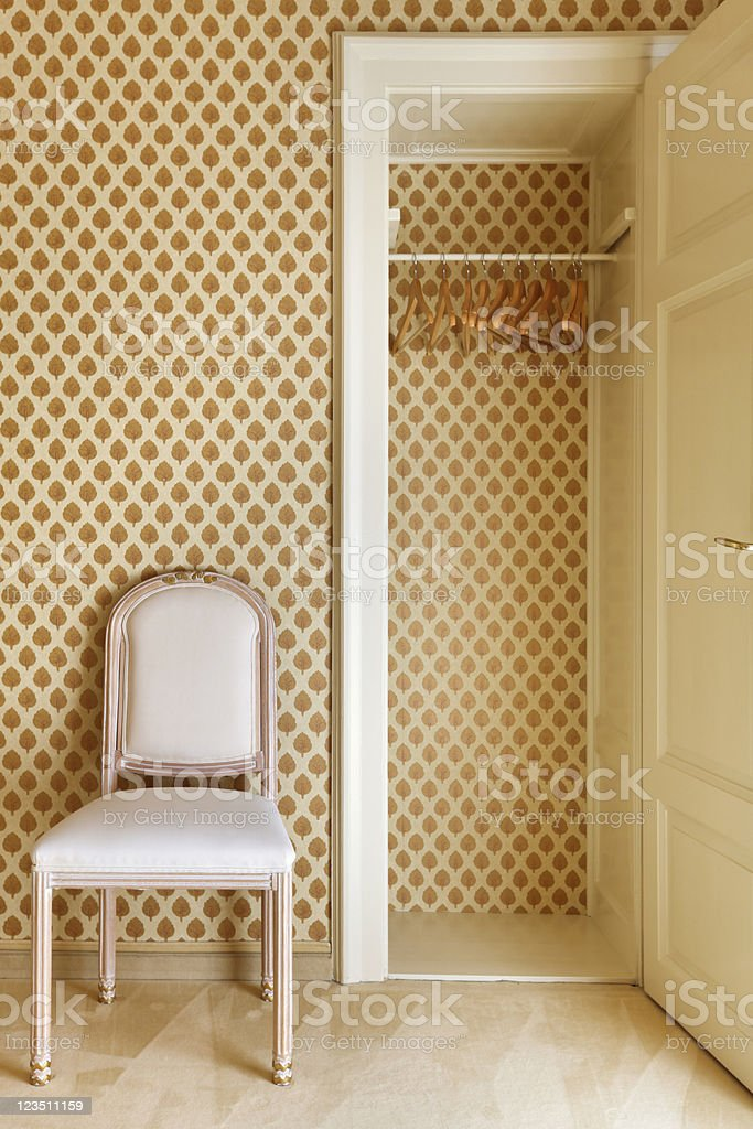 wardrobe and chair royalty-free stock photo