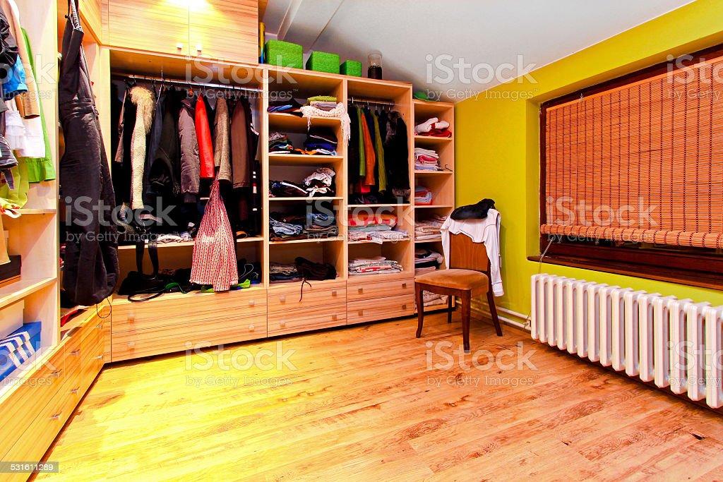 Wardrobe corner stock photo