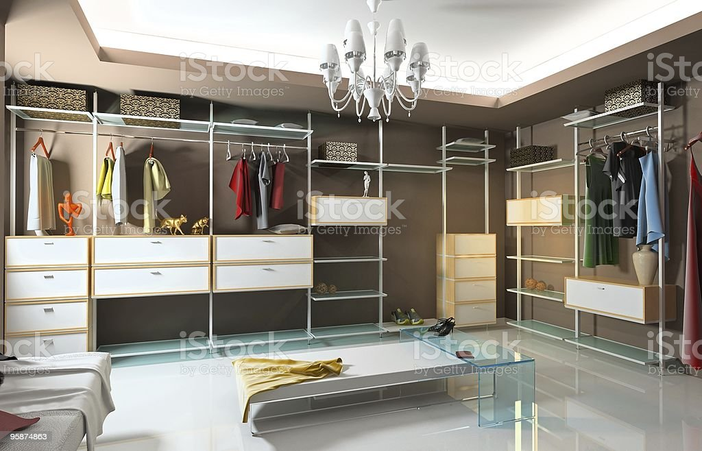 wardrobe interior royalty-free stock photo