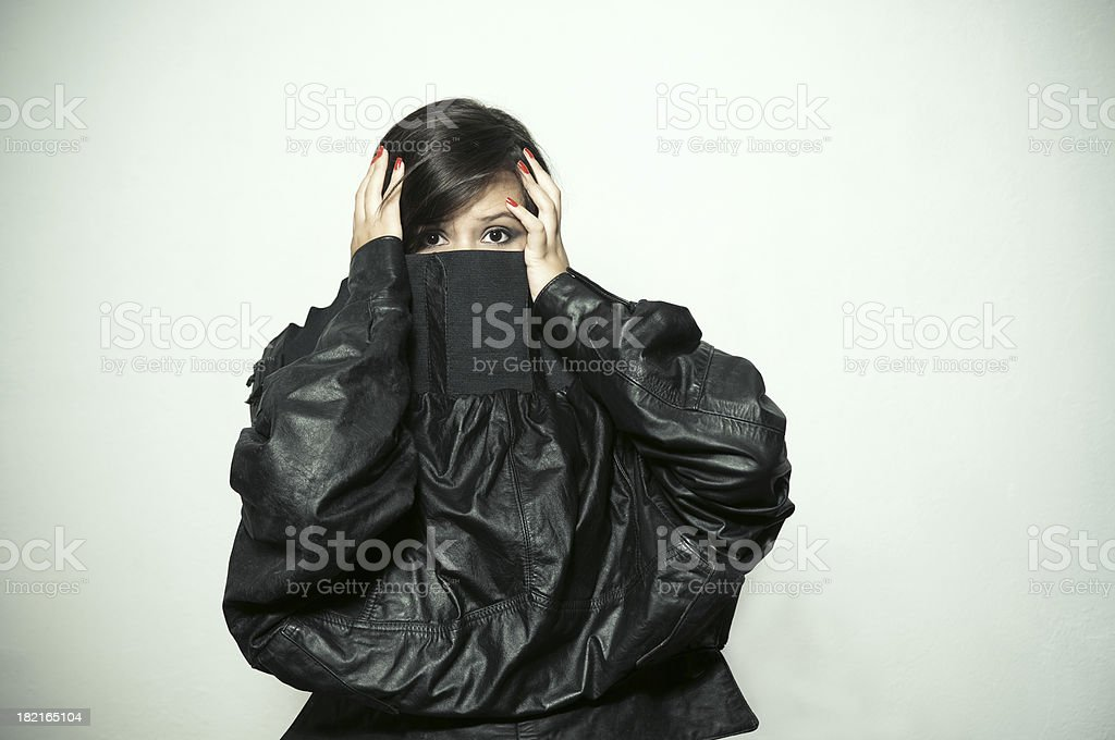 Wardrobe malfunction royalty-free stock photo