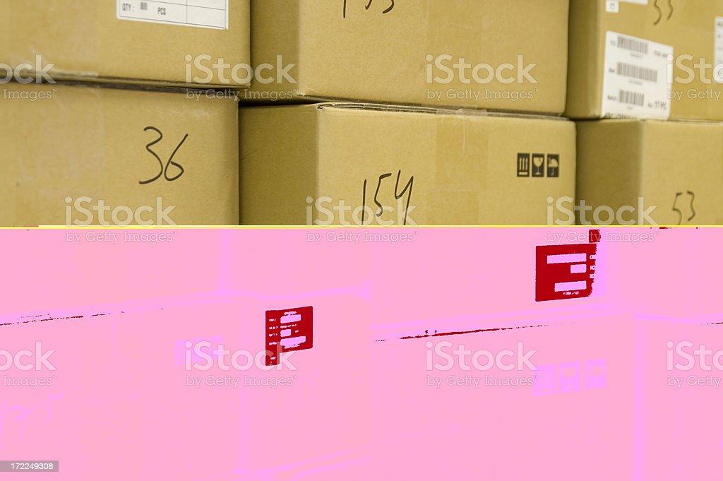 Warehouse boxes royalty-free stock photo