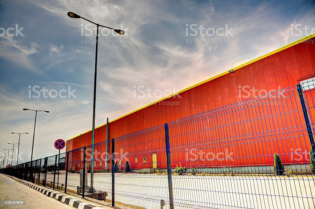 Warehouse Building - HDR Image stock photo
