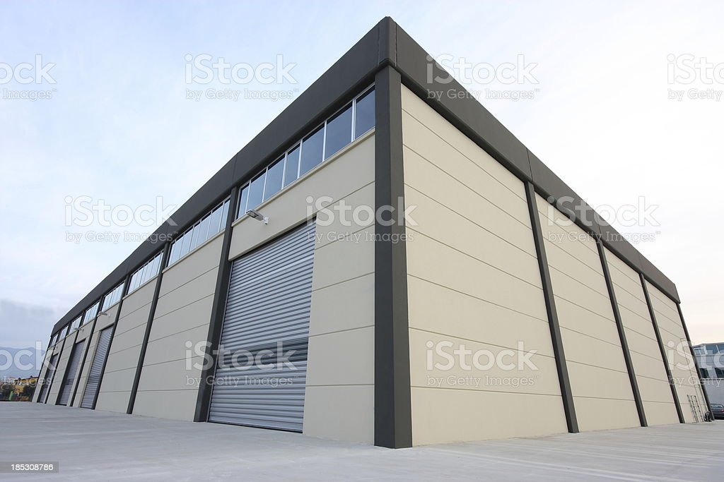 Warehouse building stock photo