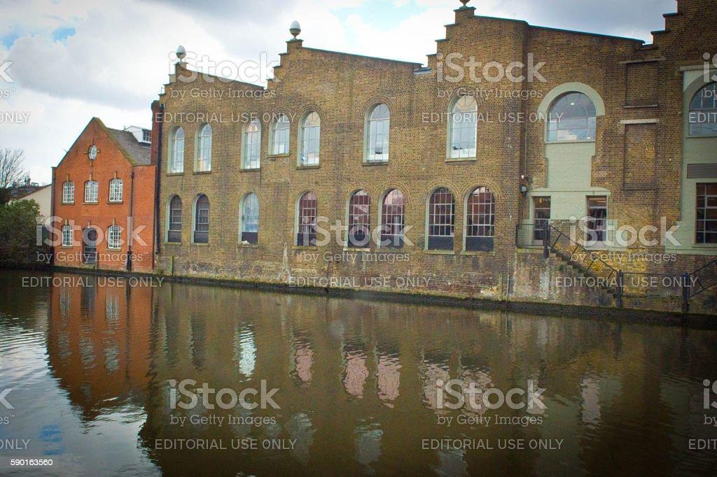 Warehouse buildings Camden stock photo