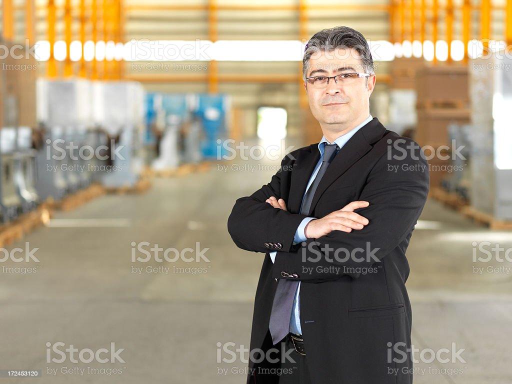 Warehouse Businessman royalty-free stock photo