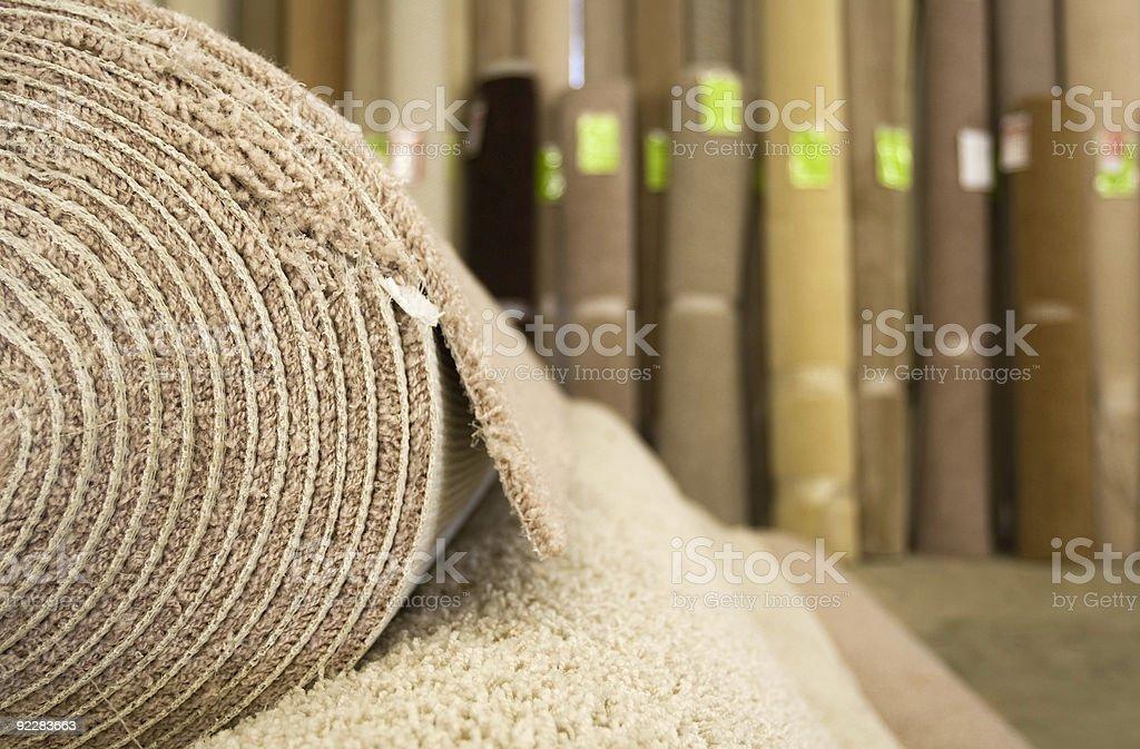Warehouse Carpet Store royalty-free stock photo