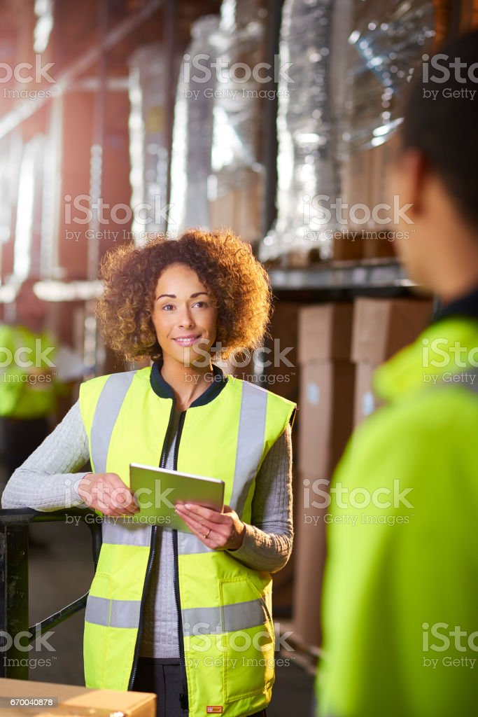 warehouse chat stock photo