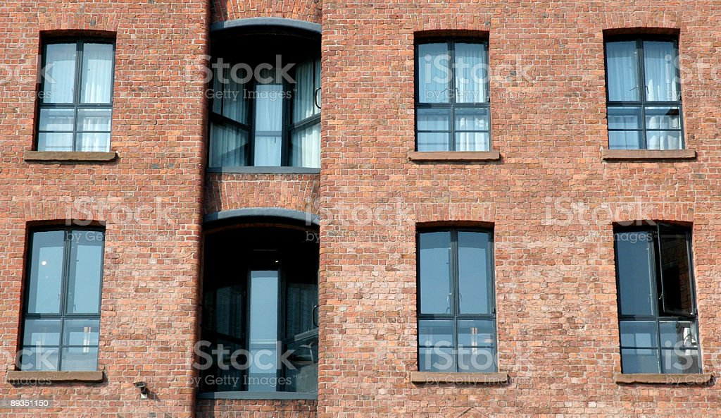 Warehouse converted to modern flat in dockland area royalty-free stock photo