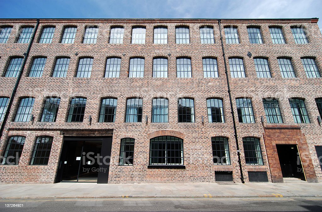 Warehouse converted to modern flat in Liverpool royalty-free stock photo