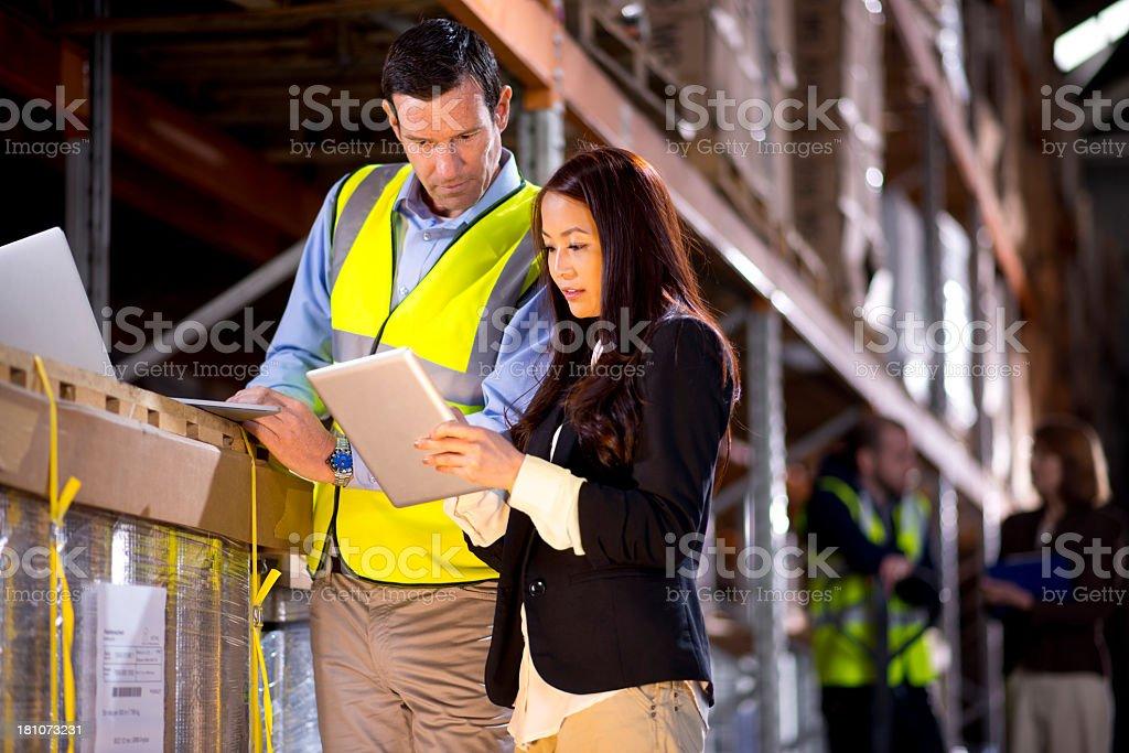 warehouse despatcher royalty-free stock photo